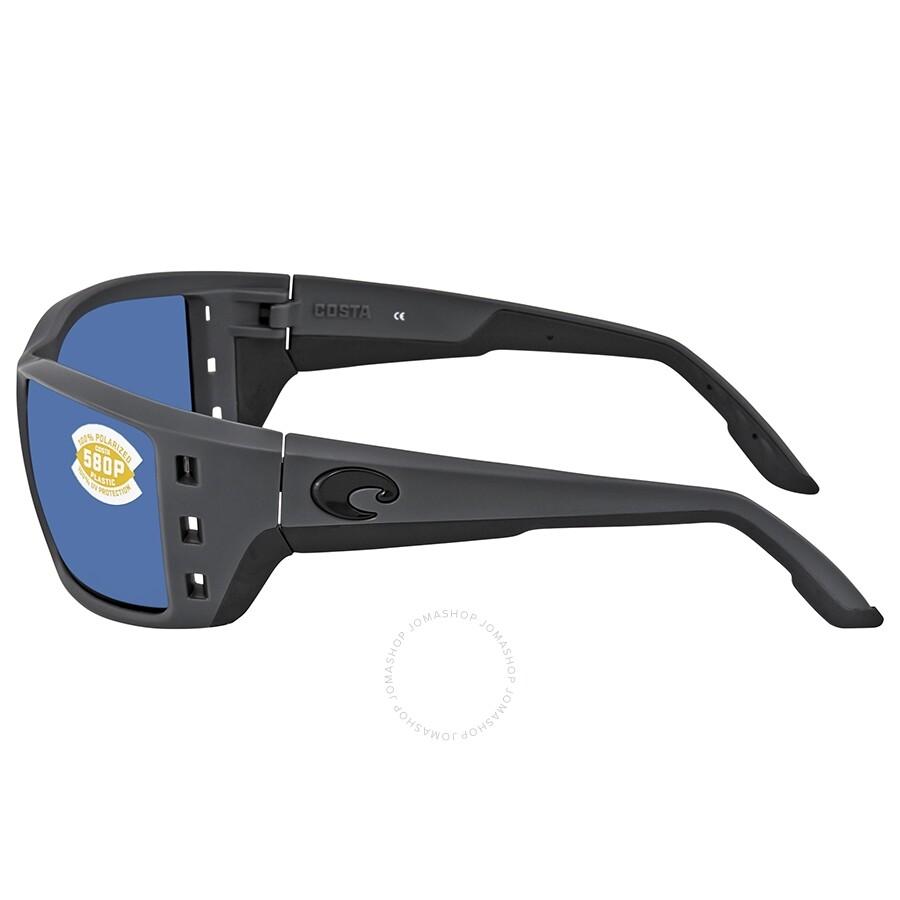 160bc53375 ... Costa Del Mar Permit Blue Mirror Polarized Plastic Square Sunglasses PT  98 OBMP