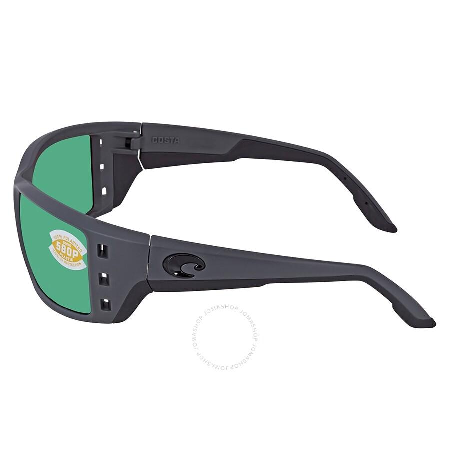 1726e71b48 ... Costa Del Mar Permit Green Mirror Polarized Plastic Rectangular Sunglasses  PT 98 OGMP