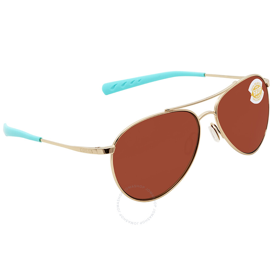 235fb68fb6c6 Costa Del Mar Piper Copper 580P Aviator Sunglasses PIP 126 OCP Item No. PIP  126 OCP