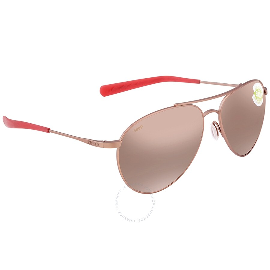 716148209396 Costa Del Mar Piper Copper Silver Mirror 580P Sunglasses Ladies Sunglasses  Item No. PIP 184 OSCP