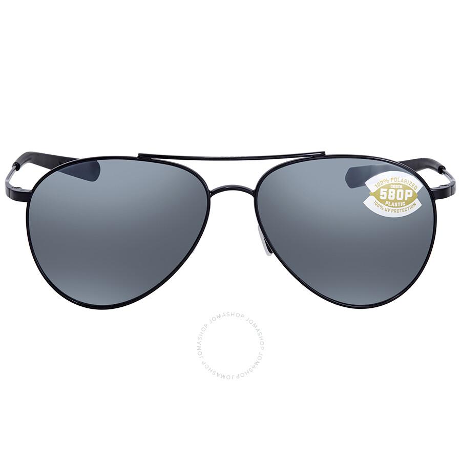 3c87315ebf Costa Del Mar Piper Gray Silver Mirror 580P Aviator Sunglasses PIP