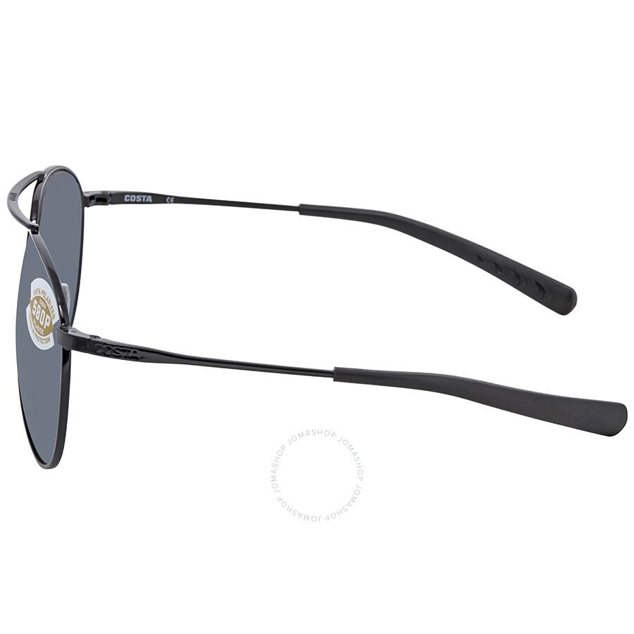 7a3af51060 Costa Del Mar Piper Gray Silver Mirror 580P Aviator Sunglasses PIP 101 OSGP