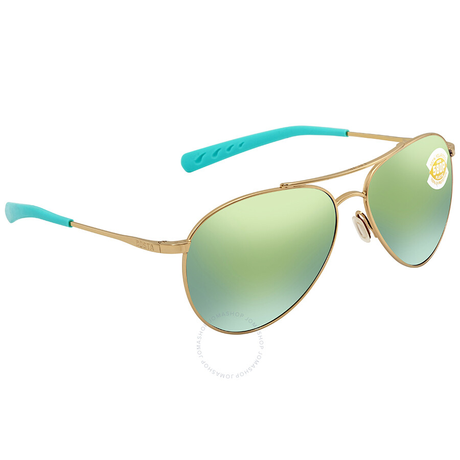 4bc64e91d7d7 Costa Del Mar Piper Green Mirror 580P Aviator Sunglasses PIP 126 OGMP Item  No. PIP 126 OGMP