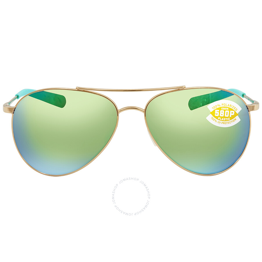 1ab31a8556 ... Costa Del Mar Piper Green Mirror 580P Aviator Sunglasses PIP 126 OGMP  ...