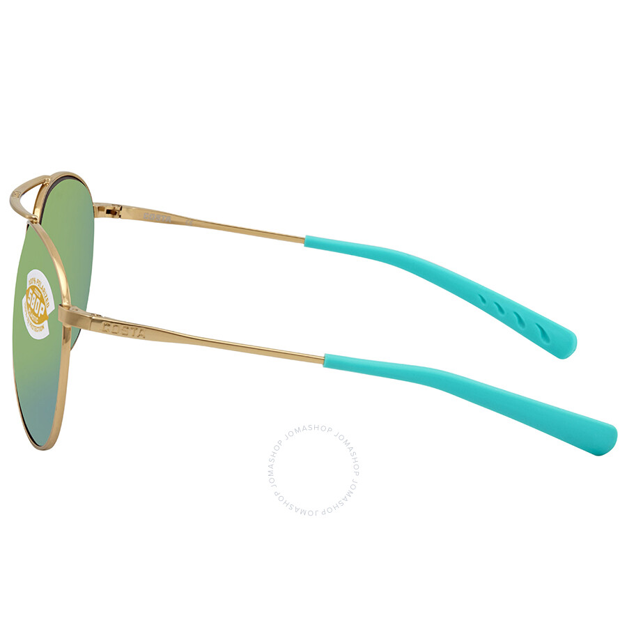 02047b6b6753 ... Costa Del Mar Piper Green Mirror 580P Aviator Sunglasses PIP 126 OGMP