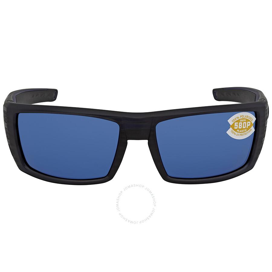 5919353a48bc3 ... Costa Del Mar Rafael Blue Mirror 580P Rectangular Sunglasses RFL 111  OBMP ...
