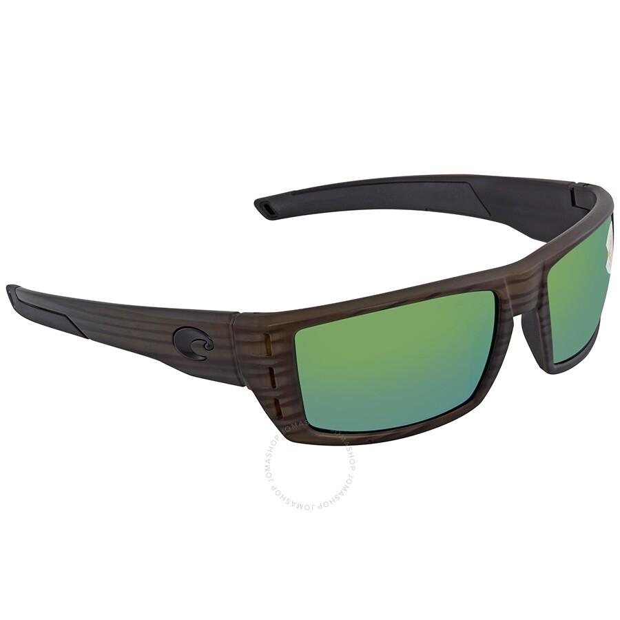 Costa Del Mar Rafael Green Mirror Polarized Medium Fit Sunglasses RFL 110 OGMP