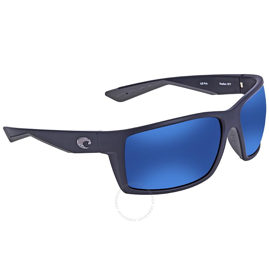 4c4d52aa00f Costa Del Mar Reefton Blue Mirror 580P Rectangular Sunglasses RFT 75 OBMP  Item No. RFT 75 OBMP