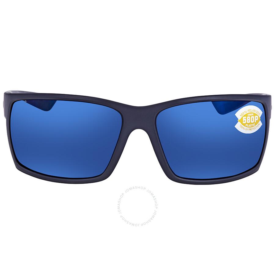 d8a621f42ad ... Costa Del Mar Reefton Blue Mirror 580P Rectangular Sunglasses RFT 75  OBMP ...