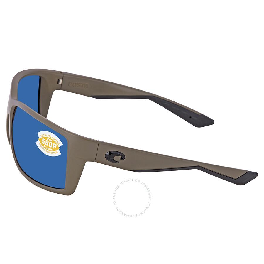 4d042290341 ... Costa Del Mar Reefton Blue Mirror Polarized Plastic Rectangular  Sunglasses RFT 198 OBMP