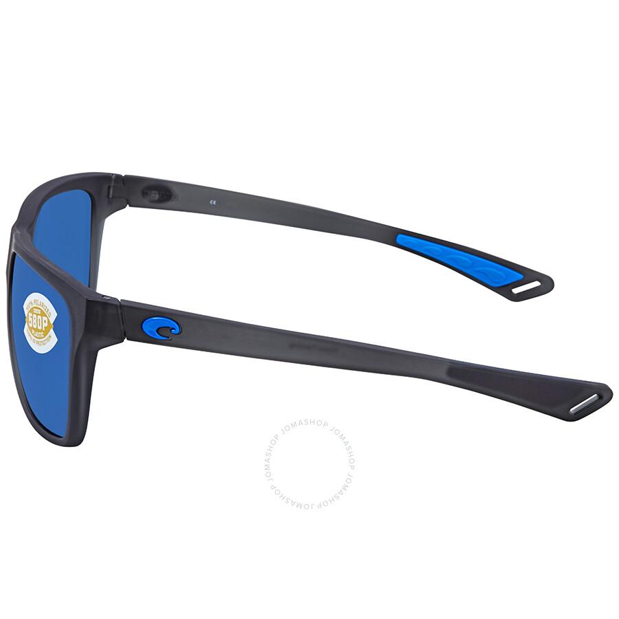 92b8297a3ad0 ... Costa Del Mar Remora Blue Mirror Rectangular Sunglasses REM 178 OBMP