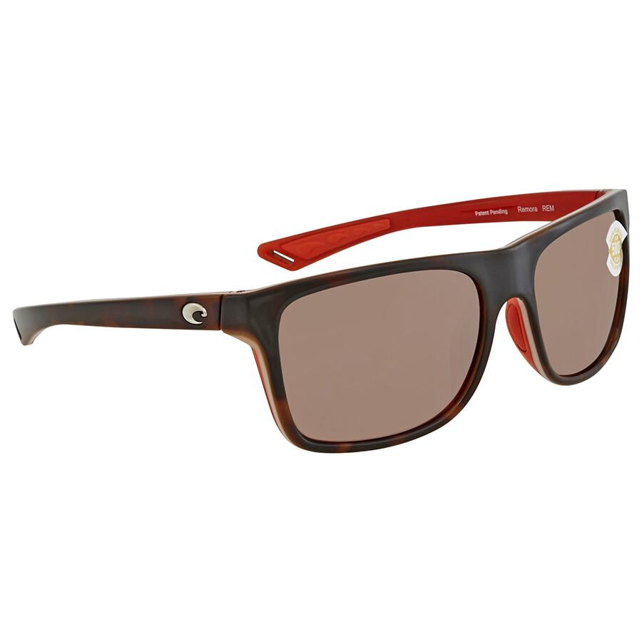 67d94f70a722 Costa Del Mar Remora Copper Silver Mirror Rectangular Sunglasses REM 133  OSCP Item No. REM 133 OSCP