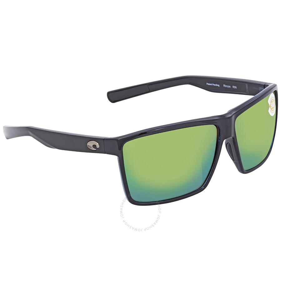 562bd68aa4 Costa Del Mar Rincon Green Mirror 580P Rectangular X-Large Sunglasses RIN  11 OGMP Item No. RIN 11 OGMP