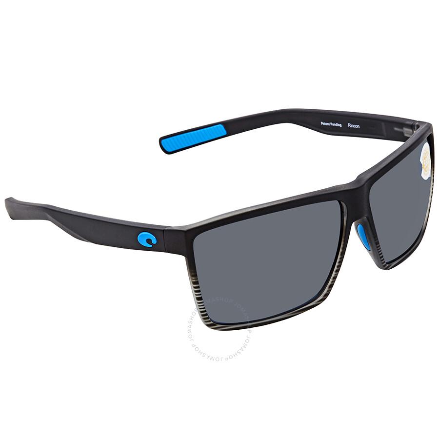 0f18776703c1 Costa Del Mar Rincon Grey 580P Rectangular Sunglasses RIN 179 OGP ...