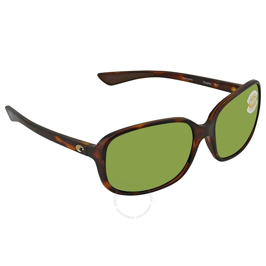 d52a0287000cb Costa Del Mar Riverton Green Mirror Polarized Plastic Rectangular  Sunglasses RVT 10 OGMP ...