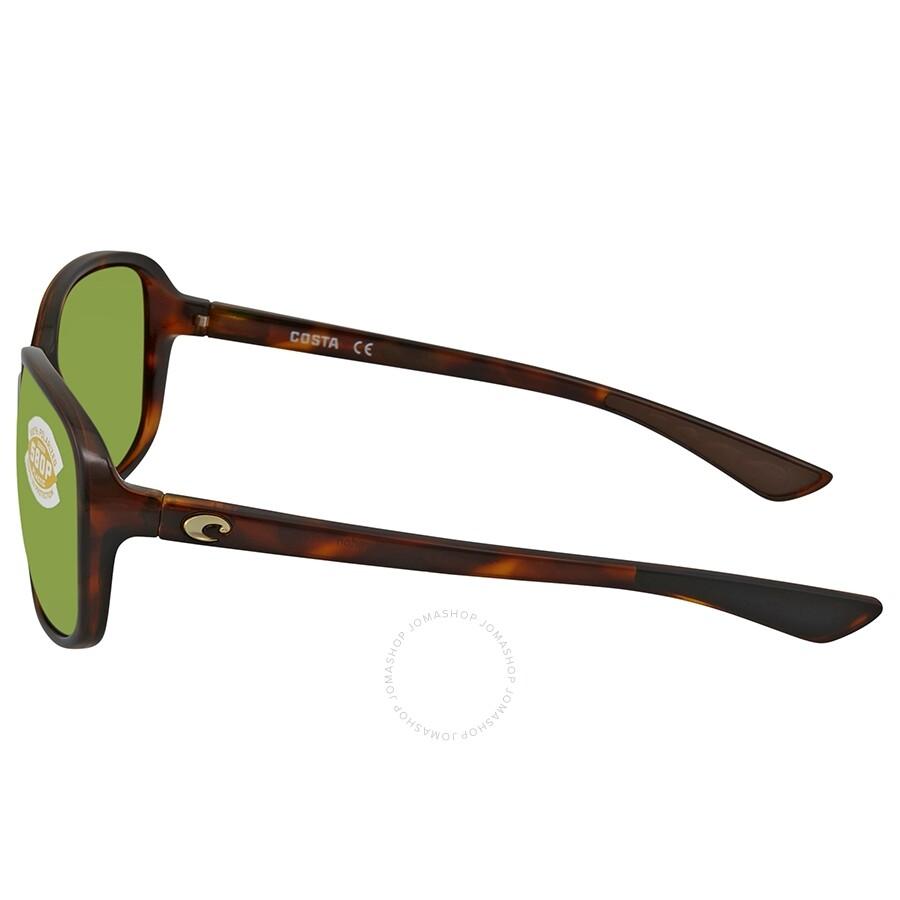 fcb73abe11f6f ... Costa Del Mar Riverton Green Mirror Polarized Plastic Rectangular  Sunglasses RVT 10 OGMP