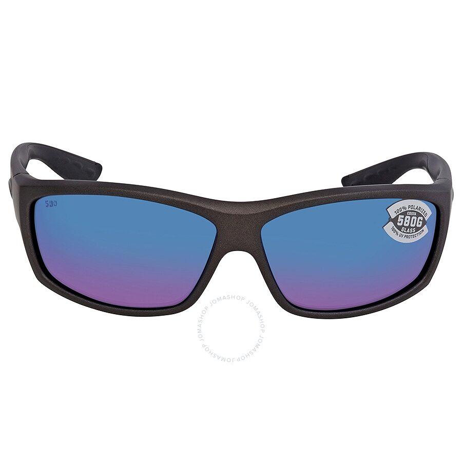 8de90a91dc338 ... Costa Del Mar Saltbreak Blue Mirror Polarized Glass (580) Rectangular  Sunglasses BK 188 OBMGLP ...