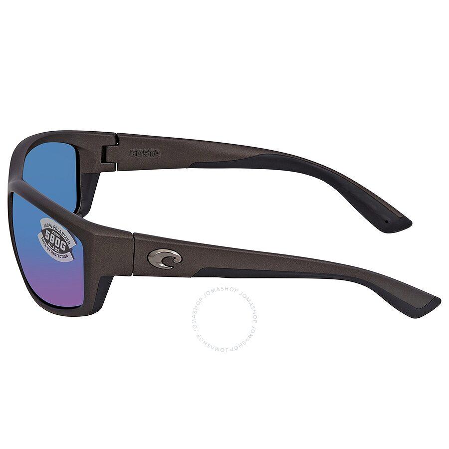 ce76929b18 ... Costa Del Mar Saltbreak Blue Mirror Polarized Glass (580) Rectangular  Sunglasses BK 188 OBMGLP
