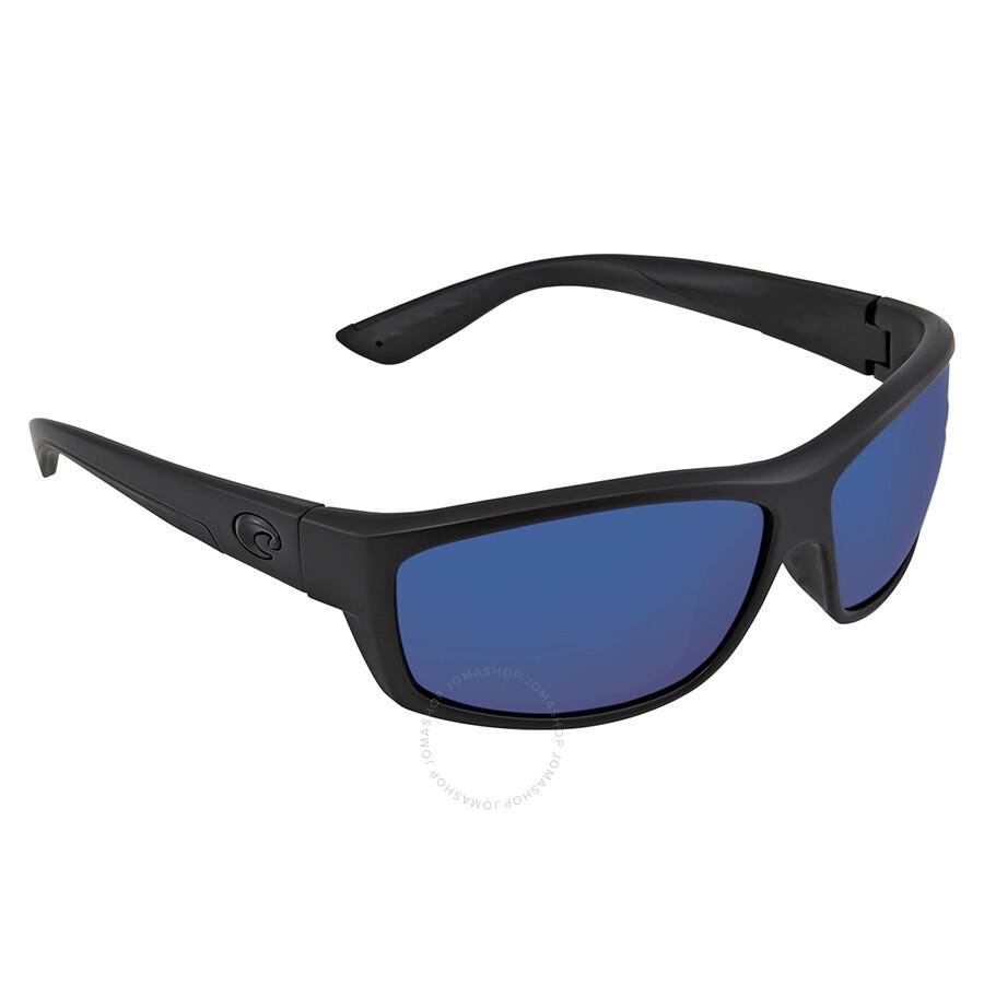 2e69958208780 ... Costa Del Mar Saltbreak Blue Mirror Polarized Plastic Rectangular  Sunglasses BK 01 OBMP ...