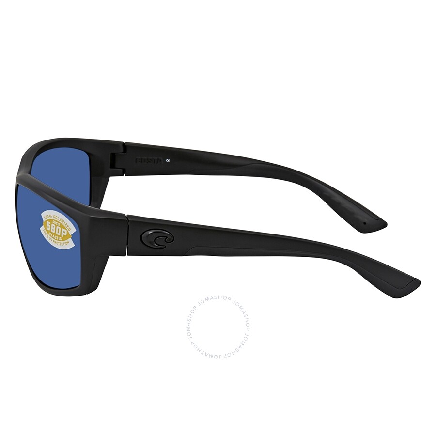 c327c6a966a0 ... Costa Del Mar Saltbreak Blue Mirror Polarized Plastic Rectangular  Sunglasses BK 01 OBMP