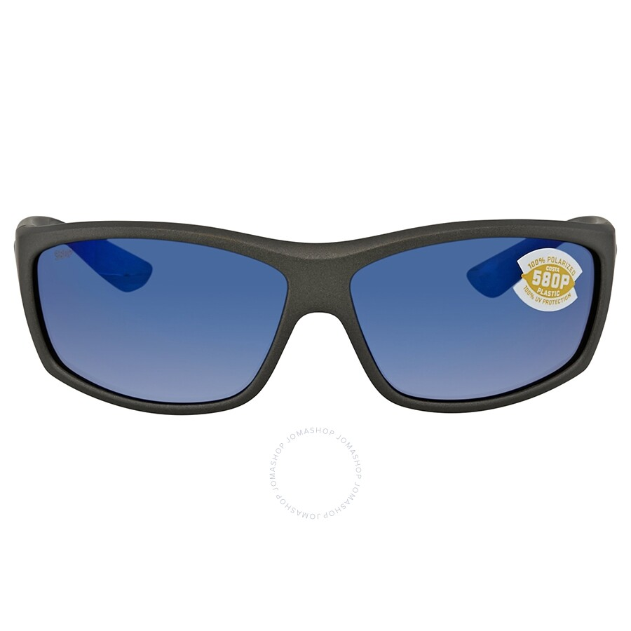 a2c48eb34fab4 ... Costa Del Mar Saltbreak Blue Mirror Polarized Plastic Rectangular  Sunglasses BK 188 OBMP ...