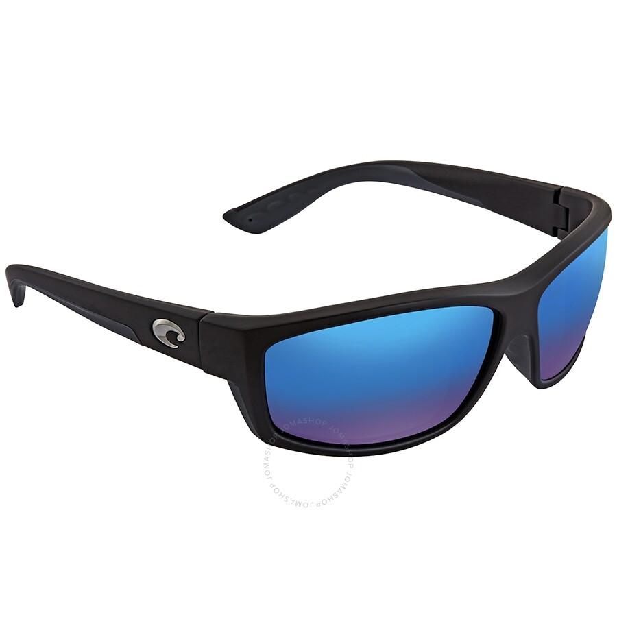 New Costa Del Mar Saltbreak Black Blue 580G Polarized Sunglasses BK 11 OBMGLP
