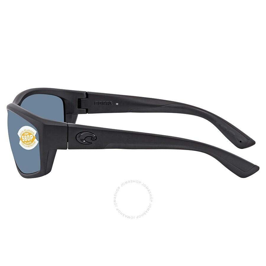 bca29eb529 ... Costa Del Mar Saltbreak Gray Polarized Plastic Rectangular Sunglasses  BK 01 OGP