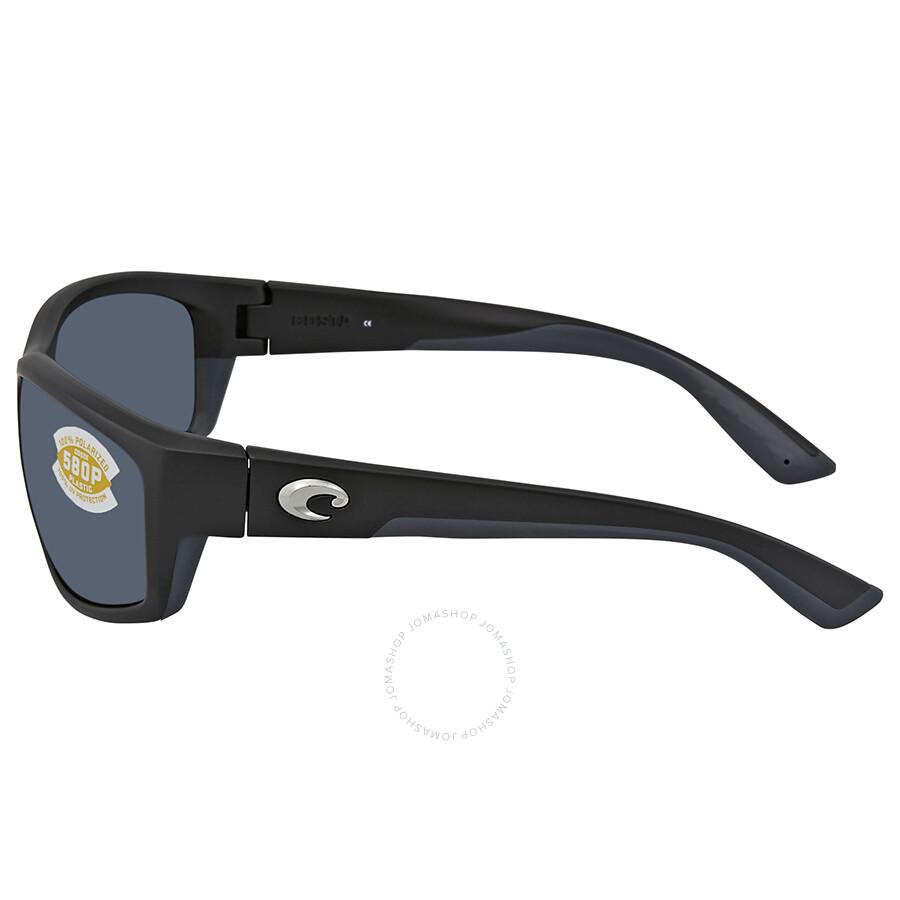 6a07d7bad2 ... Costa Del Mar Saltbreak Gray Polarized Plastic Rectangular Sunglasses BK  11 OGP