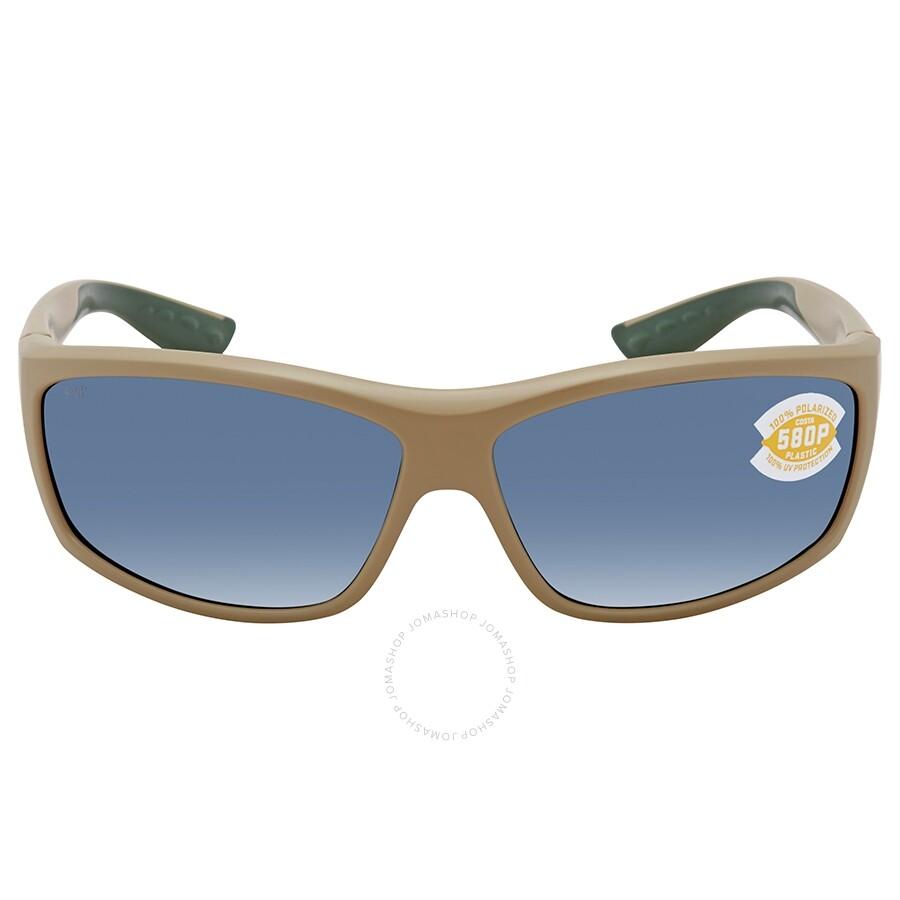 e5f364c66a Costa Del Mar Saltbreak Gray Polarized Plastic Rectangular Sunglasses Item  No. BK 248 OGP