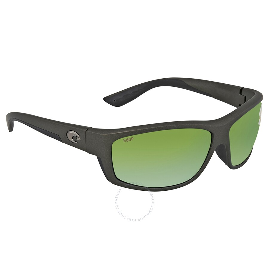 d5ff59720595 Costa Del Mar Saltbreak Green Mirror Polarized Plastic Rectangular  Sunglasses BK 188 OGMP Item No. BK 188 OGMP