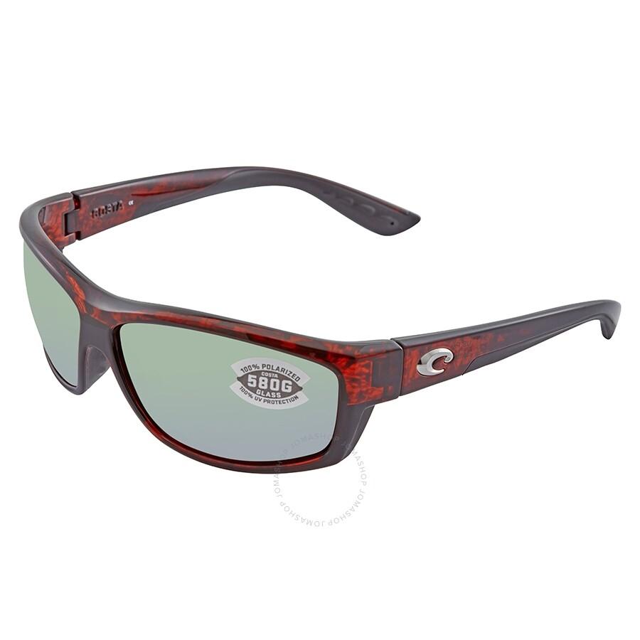 a63ed509ed Costa Del Mar Saltbreak Green Mirror Polarized Sunglasses BK 10 OGMGLP ...