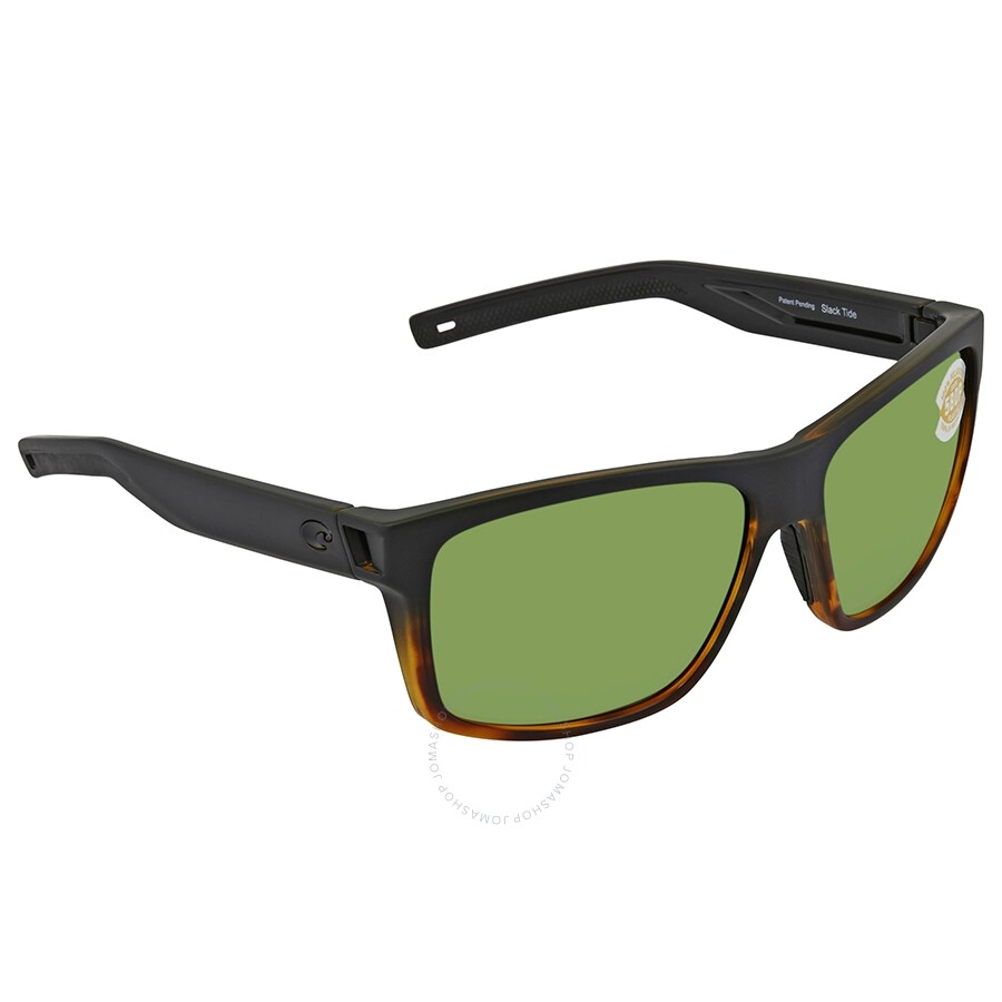 c829557b8ac Costa Del Mar Slack Tide Green Mirror Polarized Plastic Rectangular  Sunglasses SLT 181 OGMP ...
