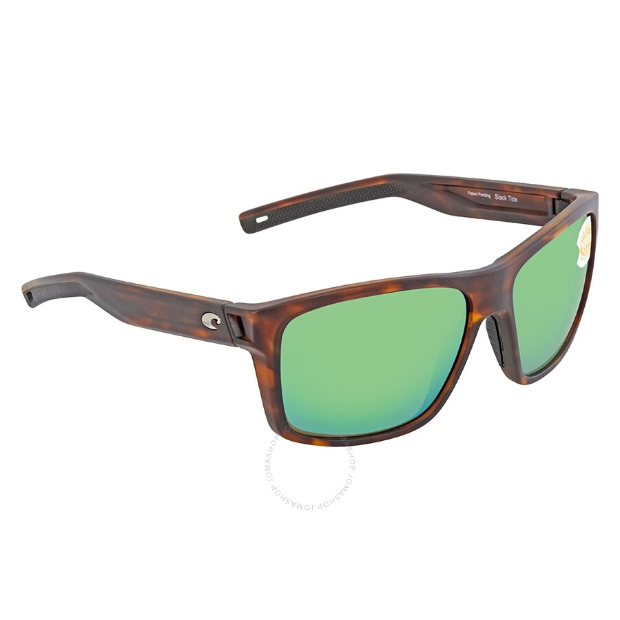 f6993668ec Costa Del Mar Slack Tide Green Mirror Polarized Plastic Square Sunglasses  SLT 191 OGMP ...