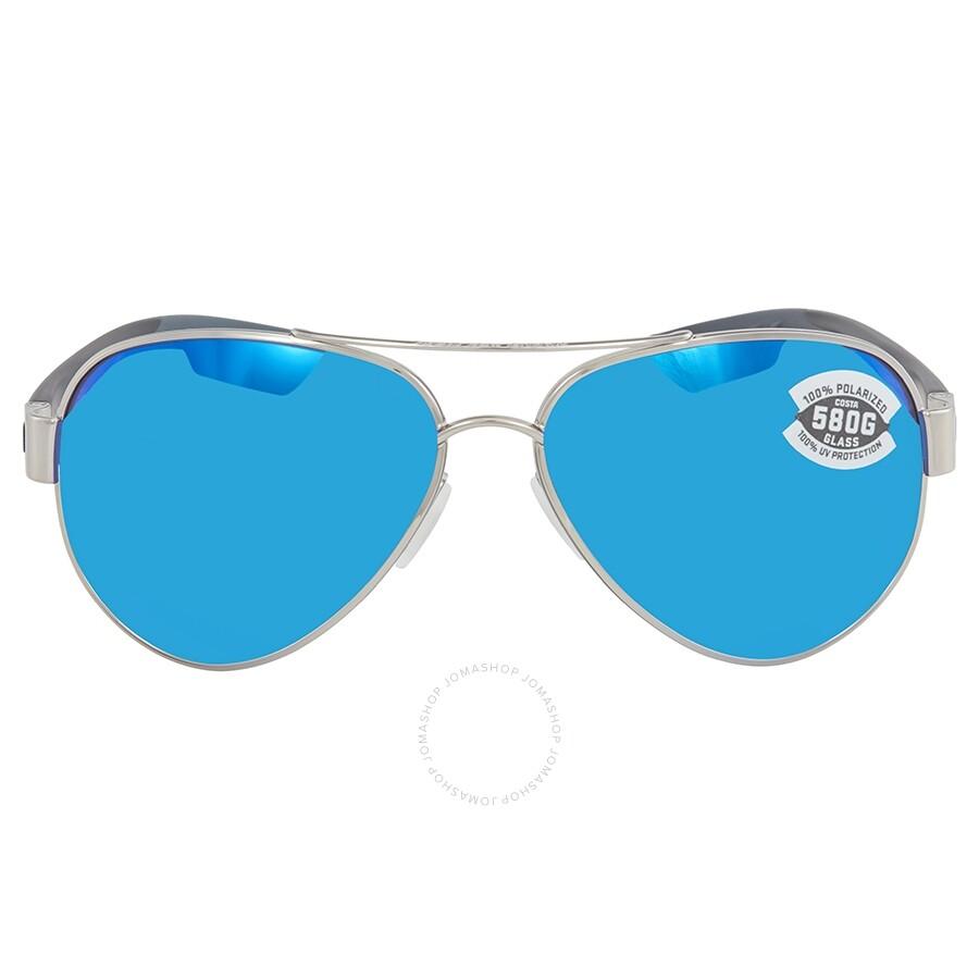 e66753ff00f4 ... Costa Del Mar South Point Blue Mirror Polarized Glass Aviator  Sunglasses SO 21 OBMGLP ...
