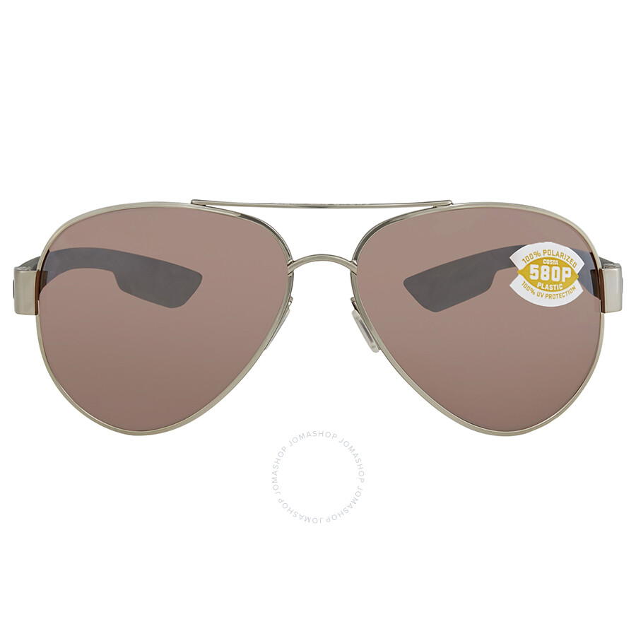 45bc78f5d2 ... Costa Del Mar South Point Copper Silver Mirror Aviator Sunglasses SO 21  OSCP ...