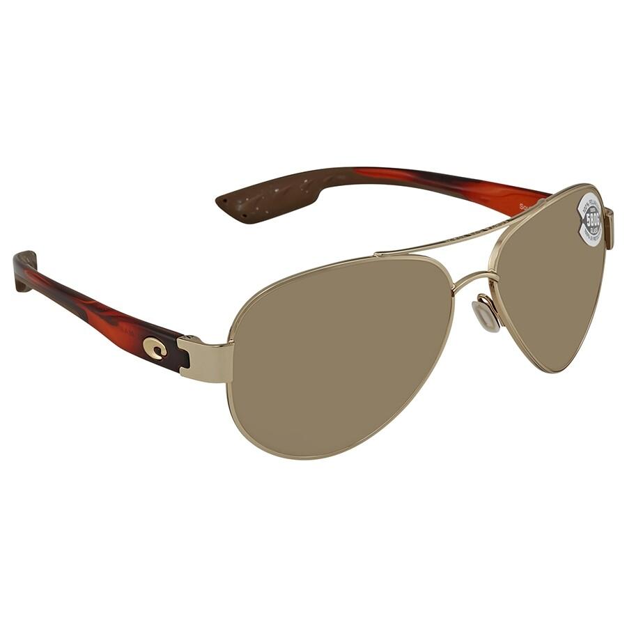 16ffdc73cf8 Costa Del Mar South Point Copper Silver Mirror Polarized Glass Aviator  Sunglasses SO 84 OSCGLP ...