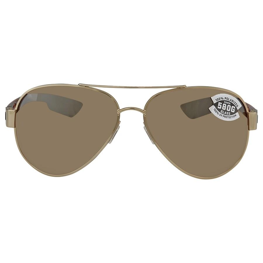 7c03ab2ff0b ... Costa Del Mar South Point Copper Silver Mirror Polarized Glass Aviator  Sunglasses SO 84 OSCGLP ...