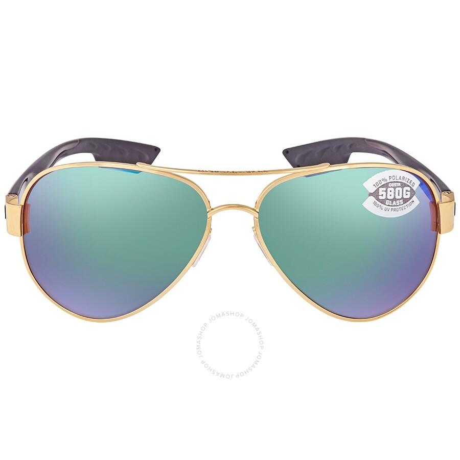 ed7228c19d42 ... Costa Del Mar South Point Green Mirror 580G Polarized Aviator Unisex Sunglasses  SO 26 OGMGLP ...