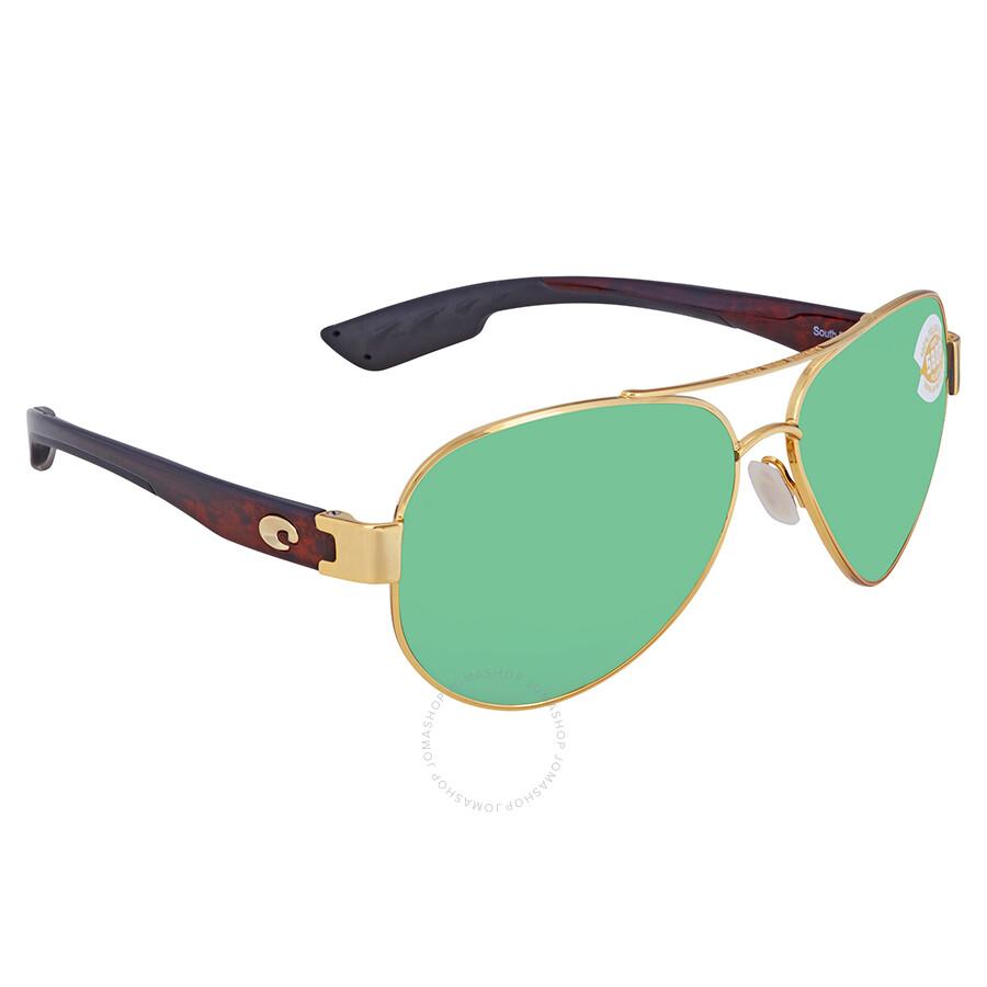 c2eff5a6b Costa Del Mar South Point Green Mirror Polarized Plastic Aviator Sunglasses  SO 26 OGMP Item No. SO 26 OGMP