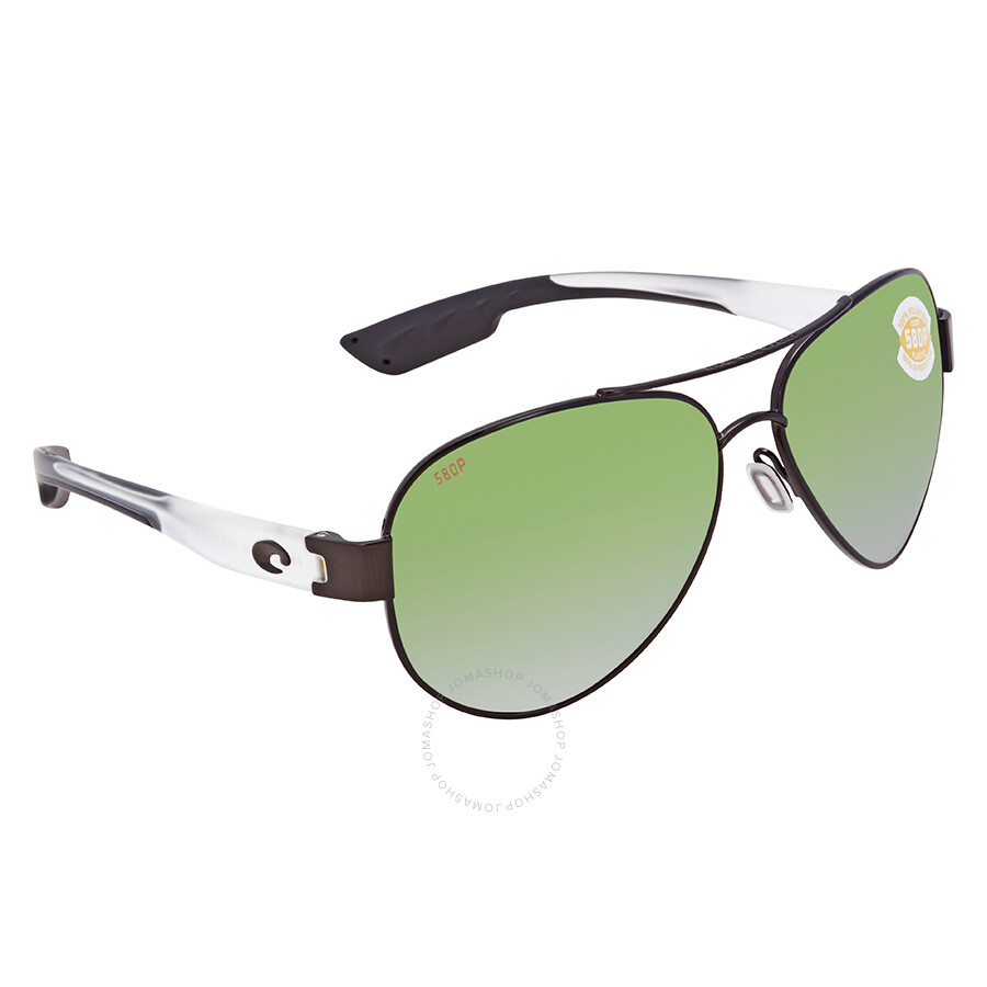 eb9f5c97125 Costa Del Mar South Point Green Mirror Polarized Plastic Aviator Sunglasses  SO 74 OGMP ...