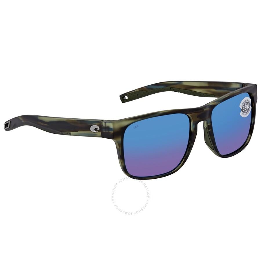 15ed62867e1a Costa Del Mar Spearo Polarized Glass (580) Blue Mirror Square Sunglasses  SPO 253 OBMGLP Item No. SPO 253 OBMGLP