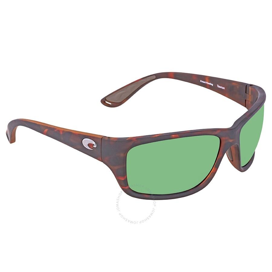 8cf0e9f8b6798 Costa Del Mar Tasman Sea Green Mirror Polarized Plastic Rectangular  Sunglasses TAS 66 OGMP ...
