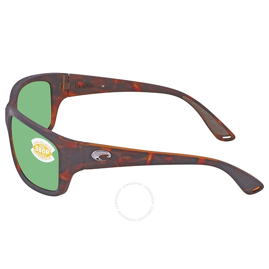 27ecbbfe4f ... Costa Del Mar Tasman Sea Green Mirror Polarized Plastic Rectangular  Sunglasses TAS 66 OGMP