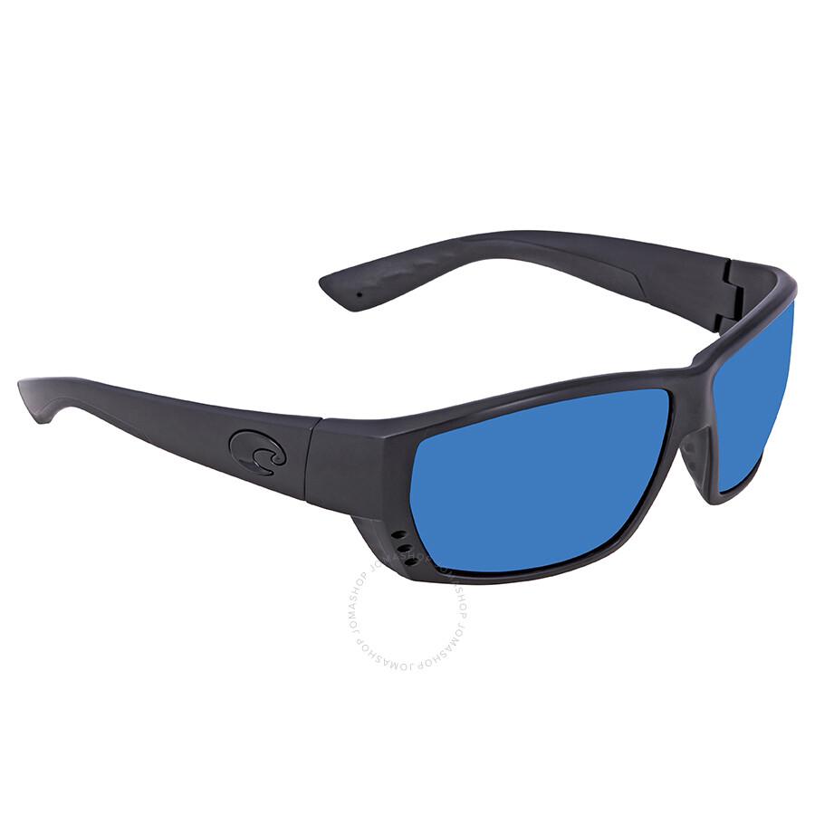 0669015ee9360 Costa Del Mar Tuna Alley Blue Mirror Polarized Plastic Rectangular  Sunglasses TA 01 OBMP Item No. TA 01 OBMP