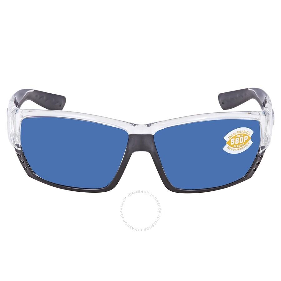 901f3669161 ... Costa Del Mar Tuna Alley Blue Mirror Polarized Plastic Rectangular  Sunglasses TA 39 OBMP ...