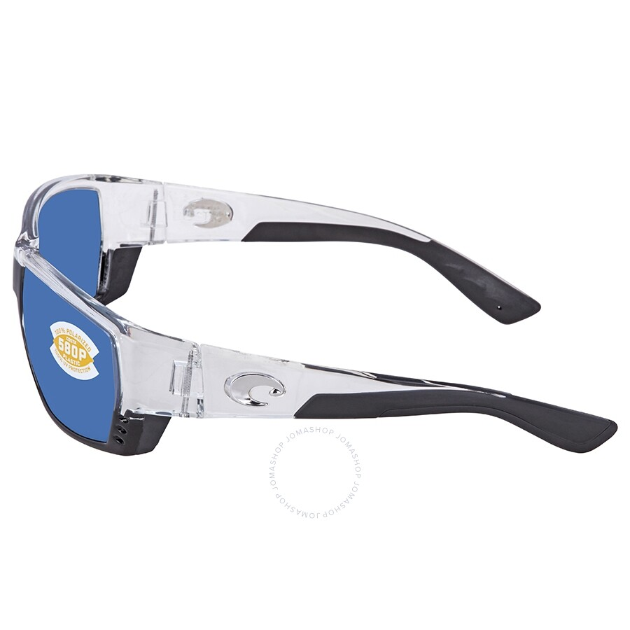 b5f37ed85abde ... Costa Del Mar Tuna Alley Blue Mirror Polarized Plastic Rectangular  Sunglasses TA 39 OBMP