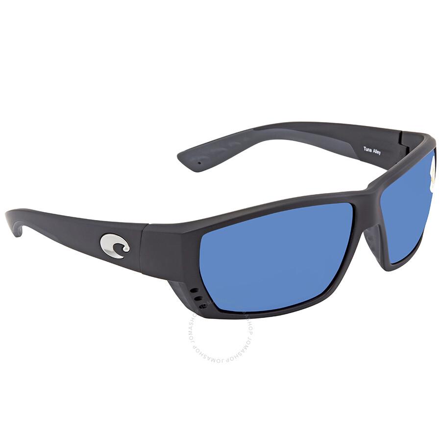 f81eb0d824c Costa Del Mar Tuna Alley Blue Mirror Rectangular Sunglasses TA 11 OBMP ...