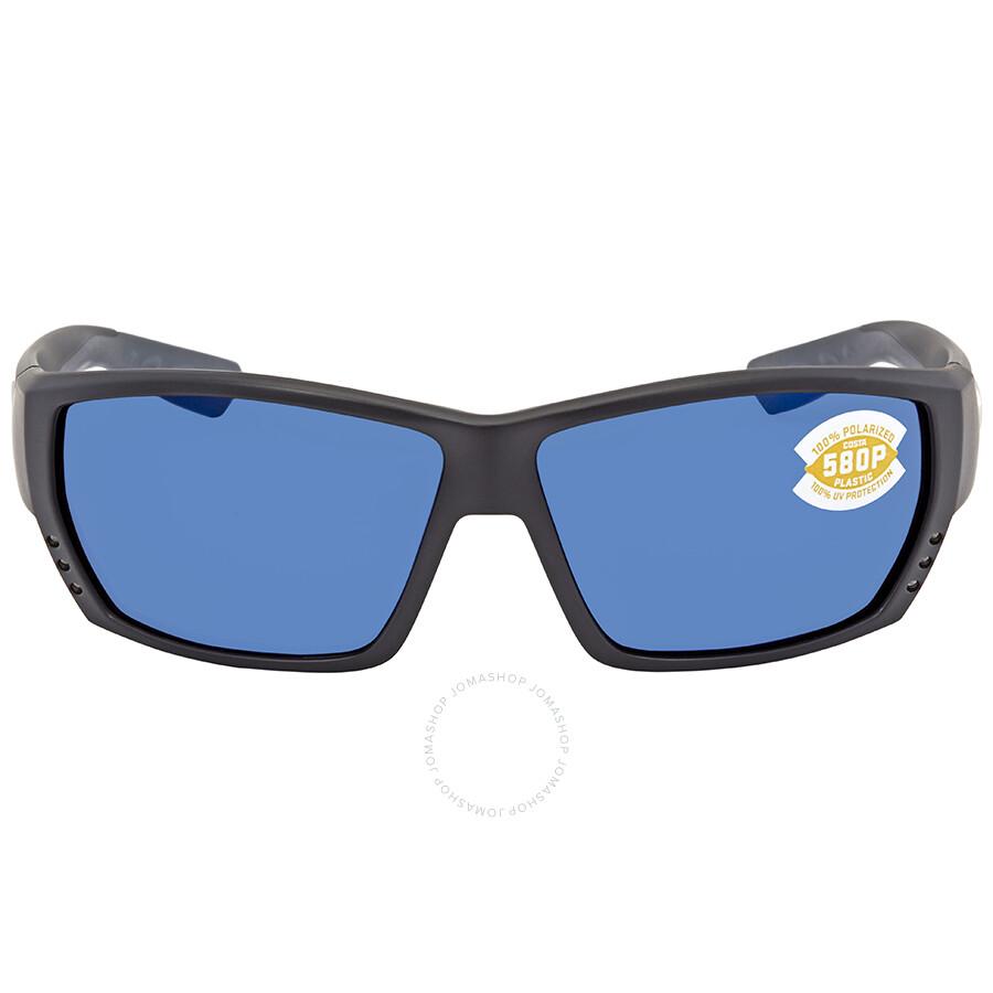 c8ee455e98 ... Costa Del Mar Tuna Alley Blue Mirror Rectangular Sunglasses TA 11 OBMP  ...