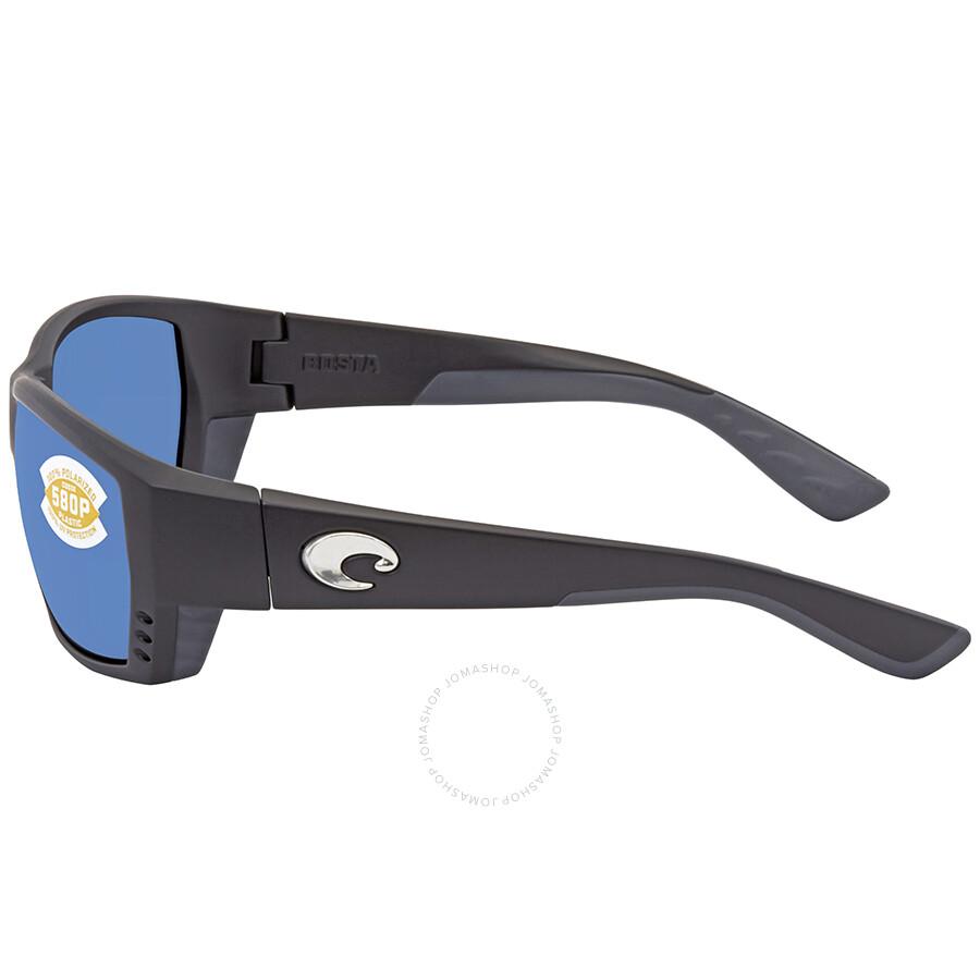 5c466784f1d ... Costa Del Mar Tuna Alley Blue Mirror Rectangular Sunglasses TA 11 OBMP