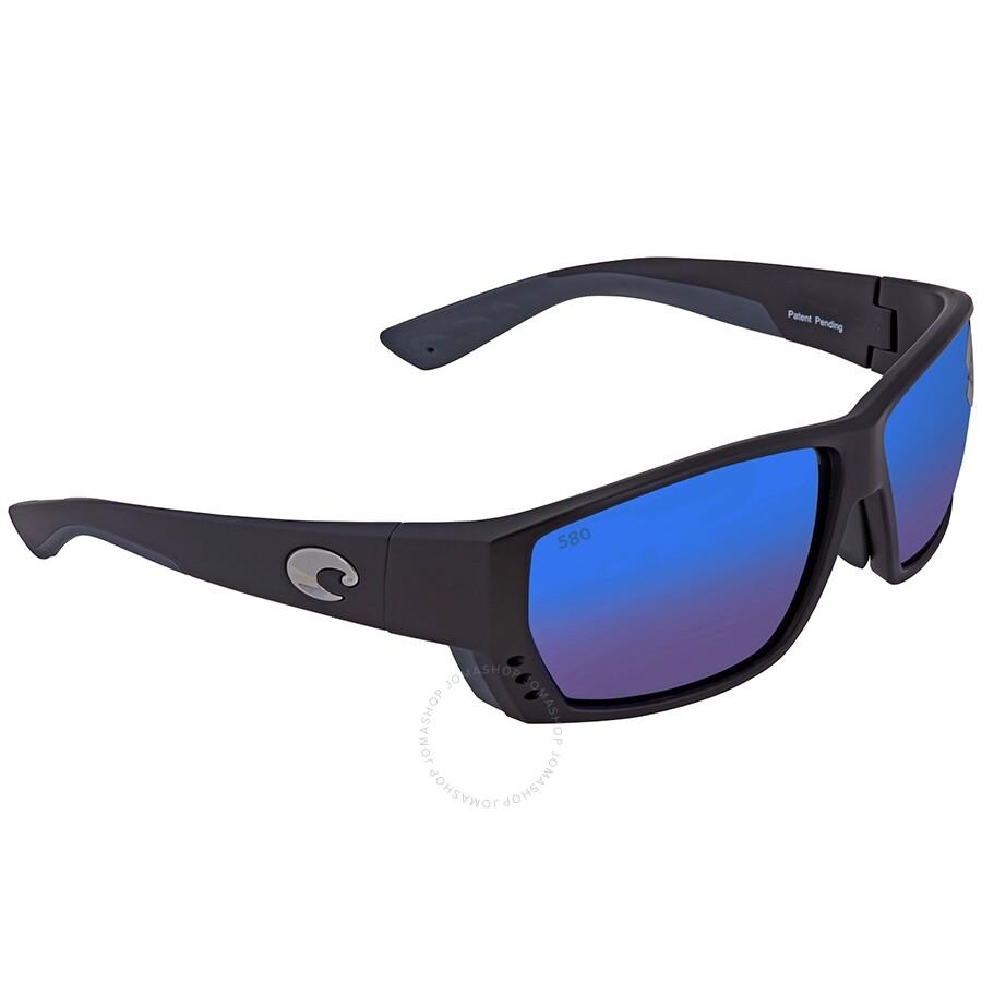 Costa Del Mar mens Tuna Alley 580g Rectangular Sunglasses